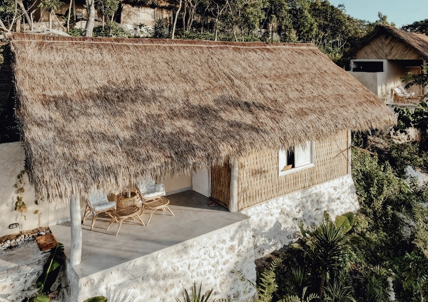 Our rustic Resort is all built from eco friendly local materials.